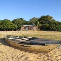 "An old fishing boat seeing out its days on the beach at the Nkhotakhota Pottery Lodge, Malawi • <a style=""font-size:0.8em;"" href=""http://www.flickr.com/photos/50948792@N02/14393178791/"" target=""_blank"">View on Flickr</a>"